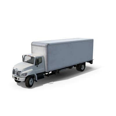 Box Truck with Open Gate.H03.2k